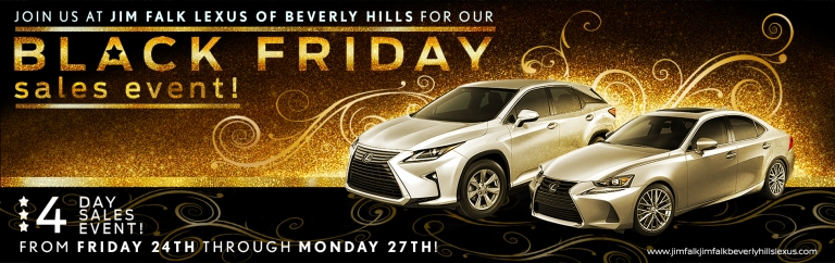 Lexus Black Friday - Banner GOLD