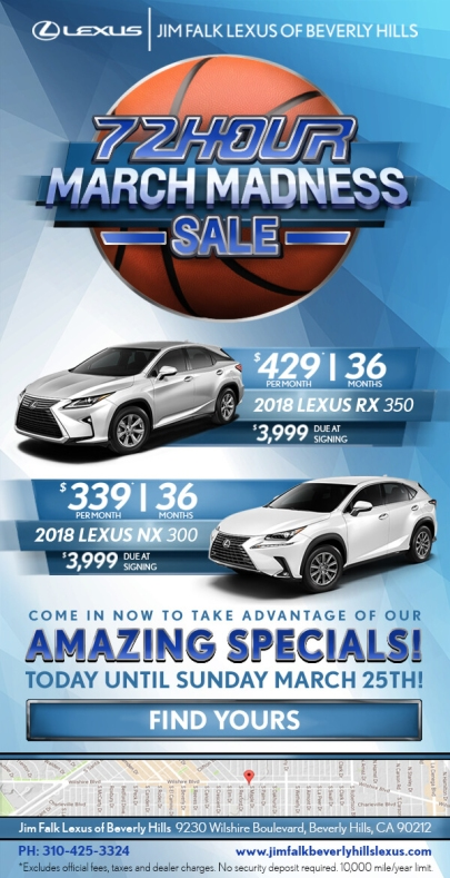 Lexus - March Madness Emailer