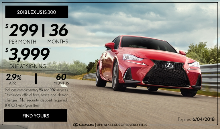 Lexus May Banner - IS 2018