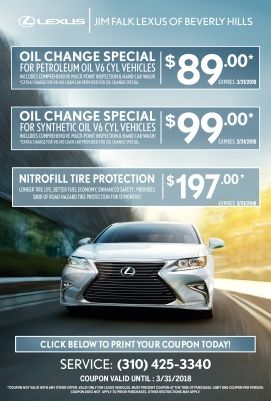 Lexus Service Special - March - Print